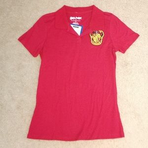 Harry Potter Griffindor Red Polo Shirt
